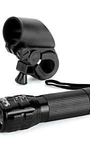 youoklight nieuwe fiets licht 3W 300lm 3-modus geleid fiets licht lichten lampp voorzijde fakkel waterproof lamp + toortshouder