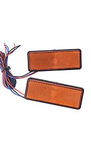 2 stuks motorfiets auto LED verlichting rechthoek reflector staart rem marker