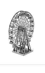 Palapelit 3D palapeli Rakennuspalikoita DIY lelut Tuulimylly 1 Metalli Vaaleanpunainen peli lelu
