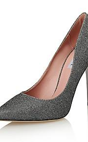 Homme-Mariage / Habillé / Soirée & Evénement-Argent-Talon Aiguille-Talons / Styles / Bout Pointu-Chaussures à Talons-Paillette /