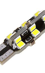 10pcs T10 24SMD bulbo de la bóveda de cuña lateral del coche de 2835 auto blanco llevó la luz (dc12v)