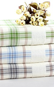 """1 PC Full Cotton Thickening Bath Towel 27"""" by 55"""" Super Soft Plaid Pattern"""