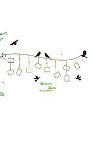 Botanica Adesivi murali Adesivi aereo da parete Adesivi decorativi da parete / Adesivi foto,pvc Materiale Rimovibile / Riposizionabile