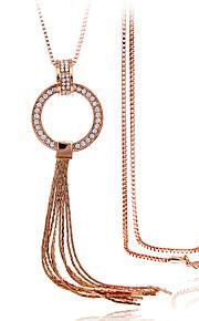 Modische Halsketten Anhängerketten Schmuck Aleación / Strass / versilbert / vergoldet / Rose Gold überzogenHochzeit / Party / Alltag /