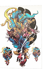 1pc Power Kylin Chinese Dragon Totem Flower Arm Temporary Women Men Body Art Tattoo Sticker HB-041