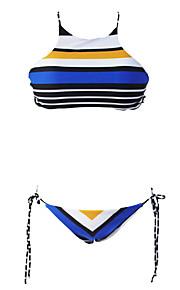 De las mujeres Bikini-MonocolorCon Cordones-Poliéster / Espándex