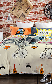 Bicycle 800TC bedding sets Queen King size Bedlinen printing sheets pillowcases Duvet cover sanding Cotton Fabric