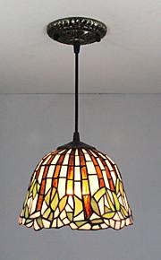 25W Hängande lampor ,  Traditionell/Klassisk / Tiffany Målning Särdrag for Ministil Metall Kök / Studierum/Kontor