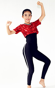 Performance Outfits Women's / Children's Performance Spandex / 3 Pieces Red Modern Dance Short Sleeve HighTop /
