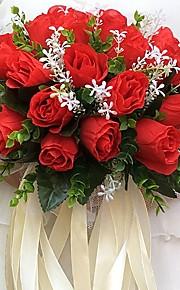 """פרחי חתונה עגול ורדים זרים חתונה / חתונה/ אירוע סאטן 11.02""""(לערך.28ס""""מ)"""