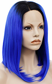 Lace Wig Parykker til kvinner Blå costume Parykker Cosplay Parykker