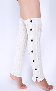 Women's Winter Knitting Warm Loose Twist Button Leg Warmers