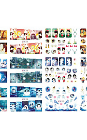 12 designs ,12 different images Nagel-Kunst-Aufkleber Vollständige Nail Tips / Nail Schmuck Cartoon Design / lieblich Make-up kosmetische