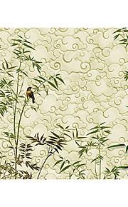 Damas / Fleur / Géométrique / Rayure / Décoration artistique / Carreau vernisé / Solide Fond d'écran pour la maison Luxe Revêtement ,
