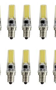 9 E12 Spot LED T 1 COB 350 lm Blanc Chaud / Blanc Froid Décorative AC 110-130 V 10 pièces