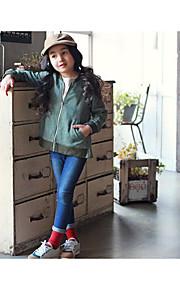 Mädchen Anzug & Blazer-Lässig/Alltäglich einfarbig Andere Sommer / Frühling Grün
