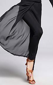 Latin Dance Bottoms Women's Training Chiffon / Milk Fiber 1 Piece Black Latin Dance Sleeveless Natural Pants
