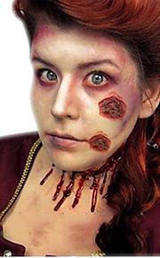 5pcs Halloween Blood Body Scab Fancy Dress Scar Tattoos Zombie Cuts Slash Makeup