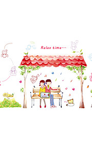 Wall Stickers Wall Decals Style Under The Eaves Of The Couple PVC Wall Stickers