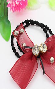 Véus de Noiva Uma Camada Peça para Cabeça com Véu Borda Lápis Tule Preto / Vermelho