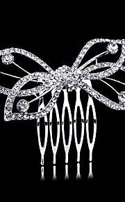 7*5.5cm Hair Combs with Butterfly Crystal for Lady Women Wedding Party Headpiece Hair Jewelry
