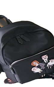 Women Oxford Cloth Casual / Outdoor / Shopping Backpack Black