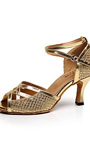 Zapatos de baile(Rosa / Plata / Oro) -Latino / Salsa-Personalizables-Tacón Stiletto