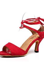 Zapatos de baile(Azul / Rojo) -Latino-Personalizables-Tacón Stiletto
