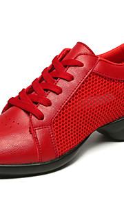 Для женщин-Дерматин-Не персонализируемая(Черный / Красный / Белый) -Джаз / Танцевальные кроссовки / Модерн