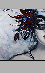 Håndmalte Abstrakt / Abstrakte Portrett olje~~POS=TRUNC malerier~~POS=HEADCOMP,Moderne Et Panel Lerret Hang malte oljemaleri For Hjem