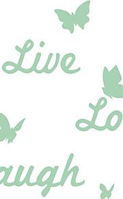 Quote Luminous Sticker Live Laugh Love Decal Glow in the Dark Home Decor