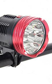 20000mah 18000lm 9x xm-l l2 ledede cykel foran cykler lys cykel lampehovedet fakkel mount trykafbryder