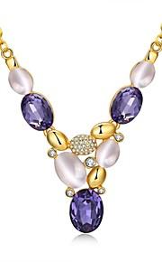 Modische Halsketten Schmuck Hochzeit / Party / Normal Einzigartiges Design / Anhänger Stil / Künstliche Perle / ModischPerle / Zirkon /