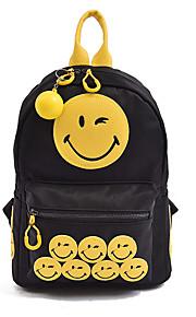 Women Nylon Casual / Outdoor / Shopping Backpack Black
