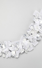 Women's Crystal Alloy Polyester Headpiece-Wedding Special Occasion Headbands 1 Piece