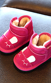 Girl's Boots Comfort Cowhide Casual Black Brown Pink