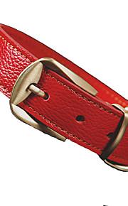 Perros Cuello Ajustable/Retractable Sólido Rojo / Negro / Marrón Cuero PU