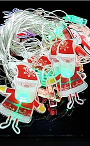 20pcs santa claus ornament LED lampe serie af halloween dag 4 meter