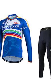 Deportes Maillot de Ciclismo con Mallas Hombres Mangas largas BicicletaTranspirable / Secado rápido / Resistente a los UV / Compresión /