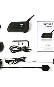 motorcykel hjelm tur bluetooth v6-1200 nye walkie-talkie emballage