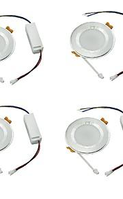YouOKLight 4PCS 7W 6000K 600lm White Light 35-SMD2835  Ceiling Light Lamp - Silver (AC 100240V)
