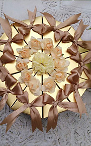 Stately Gold Cake Favor Box (Set of 10)