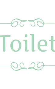 Quote Luminous Wall Sticker Toilet Decal Glow in the Dark for Family