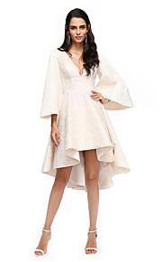 2017 ts couture® prom cocktailparty klä en linje V-ringad asymmetrisk spets