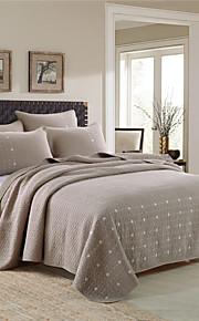 Сплошной цвет Стеганныеодеяла материал King (Ш 264 x Д 234 см) 2 декоративных чехла / 1 одеяло