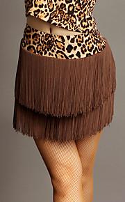 Latin Dance Tutus & Skirts Performance Chinlon Tassel(s) 1 Piece Natural Skirt