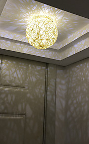Bedroom Rattan Ceiling Lighting 3W Mini Style with Warm White/White color