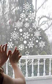 Jul / Højtid Wall Stickers Fly vægklistermærker / Veggklistremerker i Speilstil Dekorative Mur Klistermærker / Køleskabs klistermærker,PVC