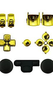udskiftning controller tilfælde monteringssæt indstillet til ps3 controller gyldne / sølv