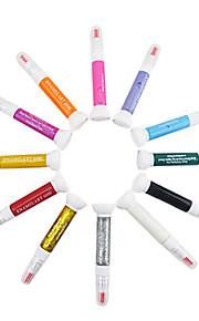 12st 2in1 fijne penpunt & nagellak penseel nail art painting pen nail art decoratie kit